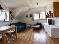 Obývací pokoj, TV stolek - apartmán k pronajmutí Příchovice