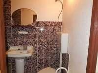 Koupelna se sprchou a WC - apartmán k pronajmutí Zlatá Olešnice