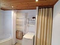 Pračka v koupelně - chata k pronajmutí Bedřichov