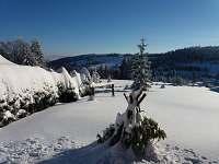 Zahrada zima - chata k pronájmu Bedřichov