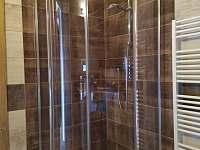 Koupelna - sprchový kout - apartmán k pronájmu Příchovice