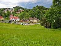 Chata Tereza - pohled ze sjezdovky v létě - k pronájmu Smržovka