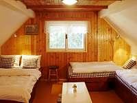 Velká ložnice v prvním patře - pronájem chaty Bedřichov