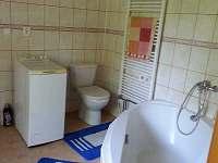 koupelna v přízemí - chalupa k pronajmutí Jablonné v Podještědí - Pole