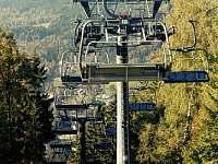 čtyřsedačková lanovka, provoz v letní sezóně - chata ubytování Albrechtice v Jizerských horách