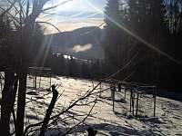 Pohled ze zahrady na Špičák - Mariánská Hora