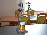 Součástí kuchyně je vestavěná pípa. Pivo, dovezeme, narazíme. Vy už jen točíte! - chalupa k pronajmutí Tanvald