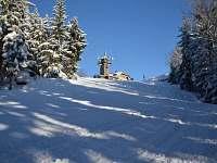 Tanvaldský Špičák - vrchol s restaurací (2,3km od chalupy) -