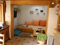 Obývací pokojík - chata k pronajmutí Albrechtice v Jizerských horách