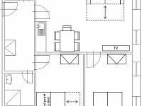 Hrabětice layout - apartmán k pronajmutí