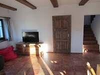 Obývací pokoj - chalupa ubytování Lázně Libverda