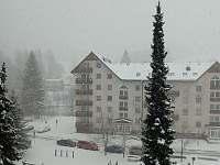 Výhled z balkónu - apartmán ubytování Jiřetín pod Bukovou