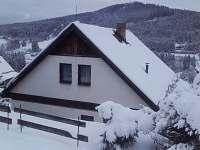 výhled na Tanvaldský špičák - pronájem chaty Jiřetín pod Bukovou