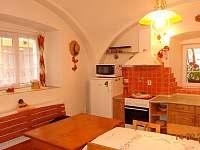 Kuchyně - chalupa ubytování Koloděje nad Lužnicí