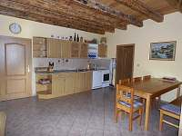 Velký apartmán kuchyně - chalupa k pronajmutí Holičky