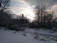 Zimní pohoda - chalupa ubytování Holičky