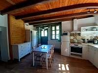 ap.B kuchyně,led TV,rozkládací gauč - chalupa k pronajmutí Kamenná Lhota