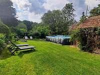 bazén - pronájem chalupy Kamenná Lhota