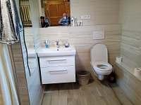 koupelna v prizemi - chalupa k pronájmu Rychnov u Nových Hradů