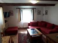 Obývací pokoj - chalupa ubytování Srlín