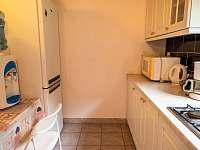 Kompletně zařízená kuchyň s velkou lednicí, mrazákem a plynovým sporákem. - Žabovřesky - Dehtáře