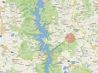 mapa - chalupa ubytování Žebrákov u Orlíka