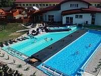 Pár kroků chodbou z apartmánu- venkovní sauno a bazéno svět-30% sleva pro Vás :) - Frymburk