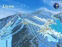 Ski areál Lipno - cca 5 minut autem z apartmánu - ubytování Frymburk