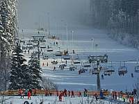 Ski areál Lipno - cca 5 minut autem z apartmánu - k pronájmu Frymburk