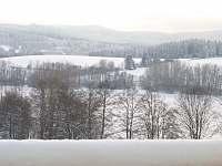Zimní výhled z Vaší ložnice - Šumava pod bílou peřinou :) - apartmán ubytování Frymburk