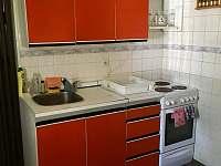 Kuchyňský kout - pronájem chaty Strážkovice - U Želízků