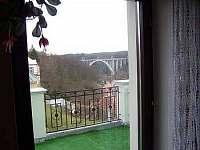 výhled z terasy -6 ti lůžkový ap. - ubytování Bechyně