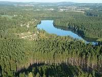Ratmírovský rybník ze vzduchu