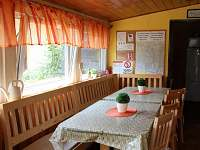 veranda s jídelnou - pronájem chalupy Tušť - Paříž