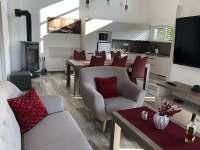 Společenská místnost - chalupa ubytování Chlum u Třeboně