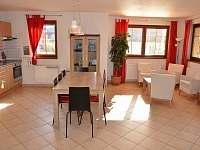 obývací kuchyň - vila k pronajmutí Lipno nad Vltavou