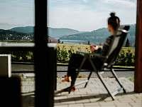 relax na terase - chalupa ubytování Lipno nad Vltavou - Kobylnice