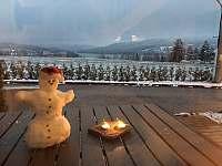 Výhled v zimě - chalupa k pronájmu Lipno nad Vltavou - Kobylnice