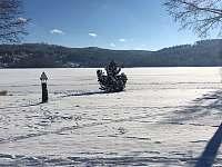 zimní pláž - pronájem chalupy Lipno nad Vltavou - Kobylnice