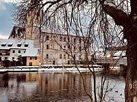 Rožmberk nad Vltavou v zimě -