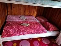Čtyřlůžkový pokoj - pronájem chaty Břehov u Českých Budějovic