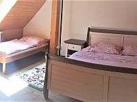 ložnice - chalupa k pronájmu Nišovice