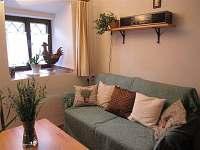 obývací pokoj, rozkládací gauč - chalupa k pronajmutí Rychnov u Nových Hradů