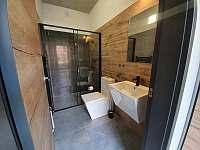 Koupelna č.2 - pronájem vily Černá v Pošumaví - Jestřábí