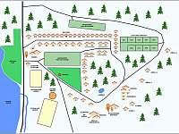 Mapa areálu - Zvůle