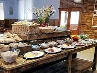 Snídaně - chatky k pronájmu Zvůle