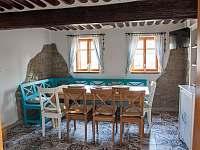 Společná místnost v přízemí - pronájem chalupy Nová Bystřice - Nový Vojířov
