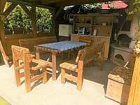 Pergola s grilem - chata ubytování Břehov - Picina