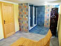 Sauna odpočívárna a sprchy - apartmán k pronajmutí Kubova Huť