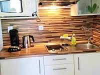 kuchynka, lednice s mrazakem, mikrovlnka trouba, kavovar, rychlovarna konvice,to - apartmán k pronájmu Lipno nad Vltavou